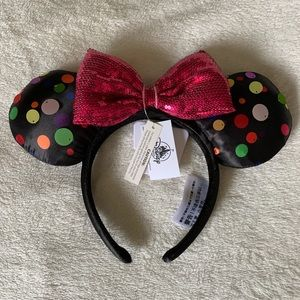 New Disneyland Minni Mouse polka dot Ears!